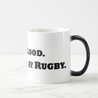 Ge blod. Leka Rugby. Morphing Mugg