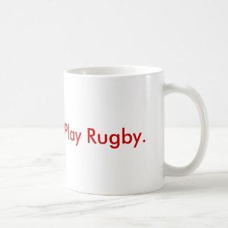 Ge blod.  Leka Rugby. Vit Mugg