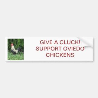 Ge en dumhuvudbildekal - Oviedo hönor Bildekal