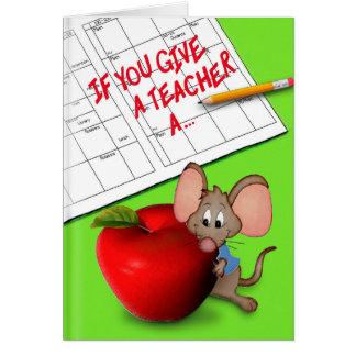 Ge en lärare hälsningskort