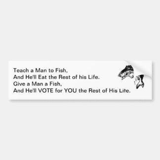 Ge en man en fisk bildekal