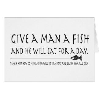 Ge en man en fisk hälsningskort
