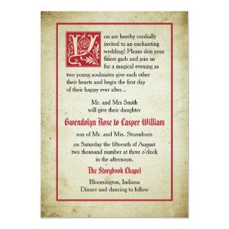 Ge för föräldrar för bröllop för saga för 12,7 x 17,8 cm inbjudningskort
