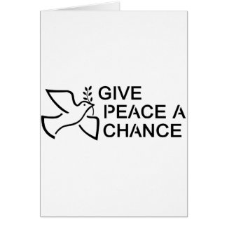 Ge fred en riskera hälsningskort