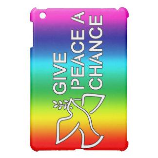 Ge fred en riskera (regnbågen) iPad mini skydd