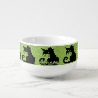 Ge inte mig rådgivningen det ilskna kattordstävet kopp för soppa