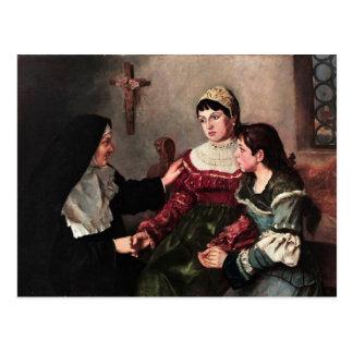 Ge komfort för nunna vykort