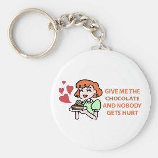 Ge mig chokladen och nyckel ringar