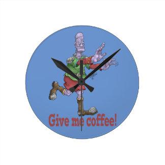 Ge mig kaffe! Väggklocka