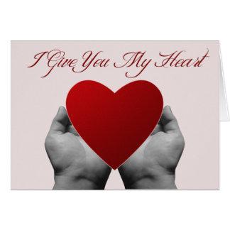 Ge mitt hjärtahälsningkort hälsningskort