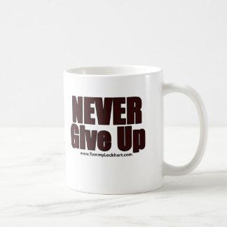 Ge sig aldrig upp kaffemugg