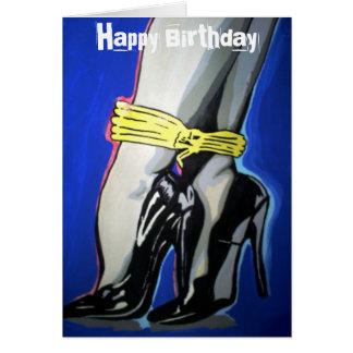 """""""Ge sig kontrollerar upp"""" födelsedagkortet Hälsningskort"""