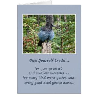 Ge sig yourself kredit… hälsningskort