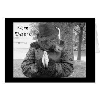 Ge tack! Happy thanksgivingkort! Hälsningskort