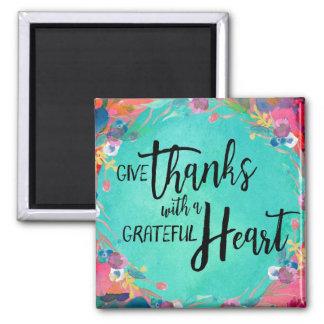 Ge tack med en tacksam hjärtamagnet magnet