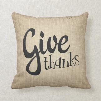 Ge tack, soffan för thanksgivingnedgång somhösten kudde