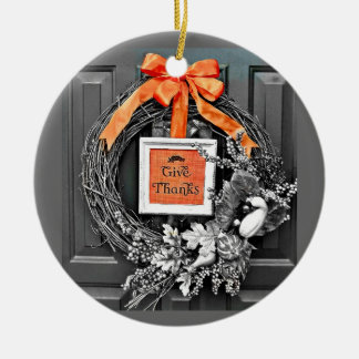 Ge tackkranen julgransprydnad keramik