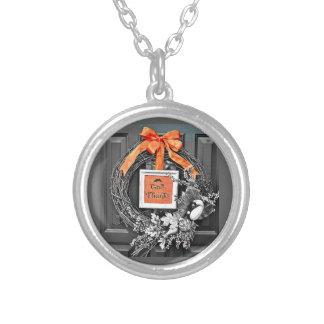 Ge tackkranen silverpläterat halsband