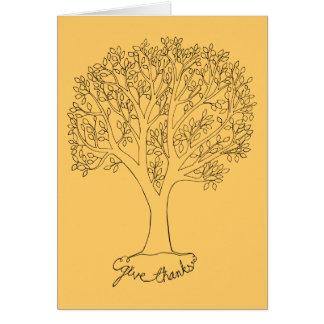 Ge tackträd hälsningskort