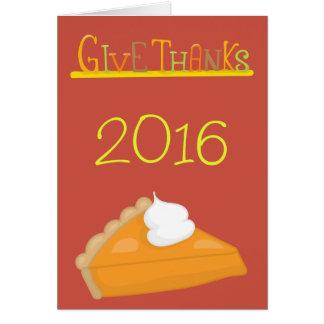 Ge thanksgivingen för tacksötpotatispajen hälsningskort
