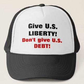 Ge U.S.-FRIHET! Ge inte U.S.-SKULDEN! Truckerkeps
