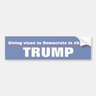 ge vision till demokrater i 20/20 trumf bildekal