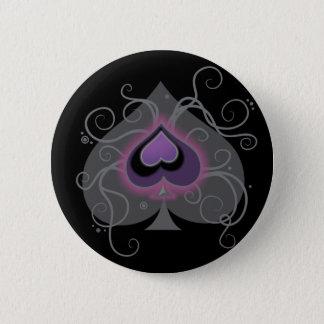 Geebots pride för logotyp för spade för essfärg standard knapp rund 5.7 cm
