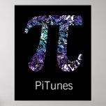 Geeken för Math och för musik för PiTunes ~ poster Posters