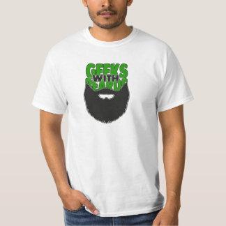 Geeks med skägglogotypskjortan tshirts