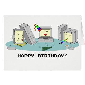 """Geeky datorkort """"för grattis på födelsedagen"""", hälsningskort"""