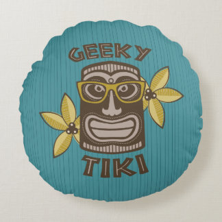 Geeky Tiki Rund Kudde
