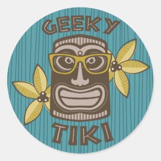 Geeky Tiki Runt Klistermärke