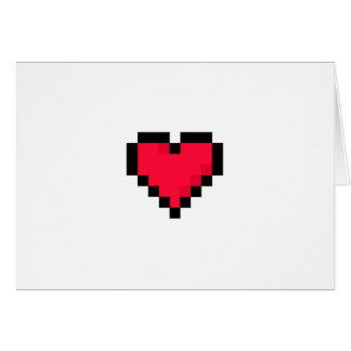 Geeky valentin dagkort hälsningskort