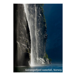 Geirangerfjord vattenfall, norge poster