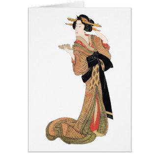 Geisha Hälsningskort