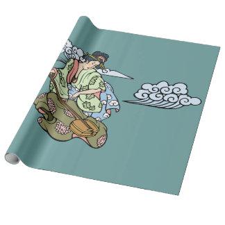 Geisha med moln presentpapper