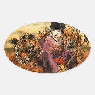 Geisha Ovalt Klistermärke