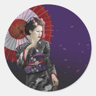 Geisha Runt Klistermärke