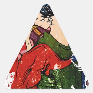 Geisha Triangelformat Klistermärke
