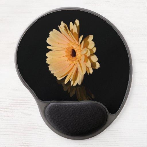 Gel Mousemat för persikachrysanthemumblomma Gelé Mus-mattor