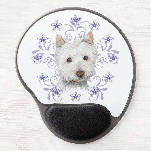Gel Mousepad för konst för julWestie hund Gelé Mus-matta