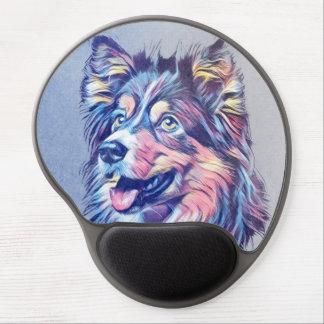 Gel Mousepad för målning för Shetland Sheepdog Gel Musmatta
