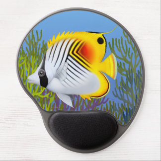 Gel Mousepad för ThreadfinAurigaButterflyfish Gel Musmatta