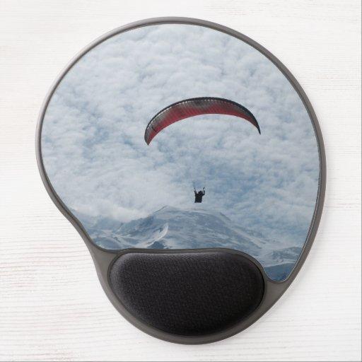 Gel Mousepad - Paraglider över alpernan Gelé Mus-mattor