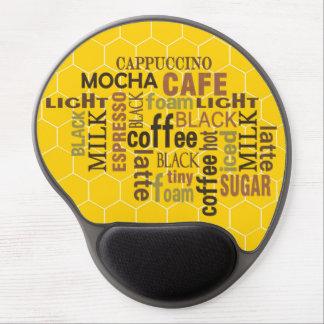 Gel Mousepads för gult för arbetare för kaffetunne