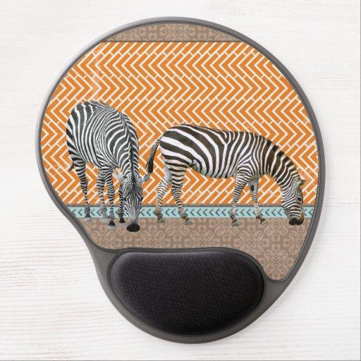 Gel Mousepads för sparrar för afrikazebror stam- o Gelé Musmatta