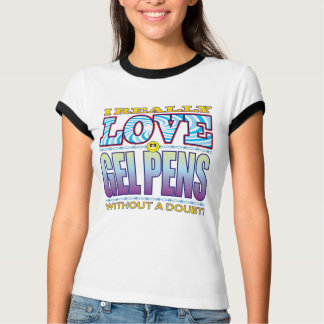 Gelen skrivar kärlekansikte tshirts