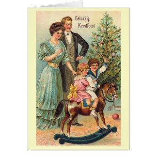 """Gelukkig Kerstfeest "", Hälsningskort"