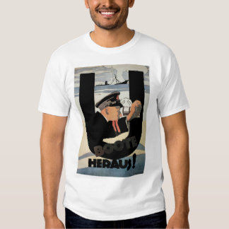 gemany affisch för U Boote Heraus_Propaganda T-shirts