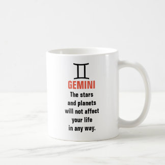 Geminihoroskop - stjärnorna och planen ska inte vit mugg